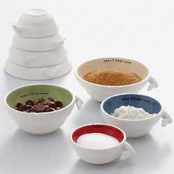 Busy Bee Ceramic Measuring Cups