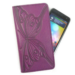 Purple Butterfly Smartphone/Cell Phone Wallet