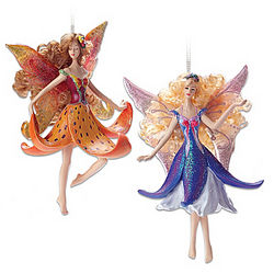 Tiger Lily and Arabela Clematis Fairy Ornaments