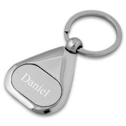 Personalized Matte Triangular Key Chain