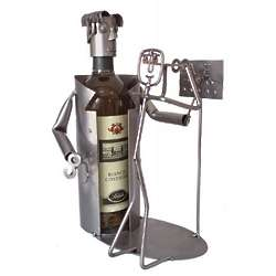 Handmade Recycled Metal Eye Doctor Wine Caddy