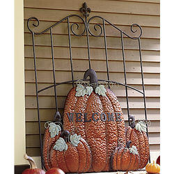 Metal Pumpkin Welcome Gate