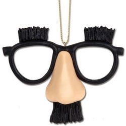 Classic Fake Nose and Glasses Disguise Ornament