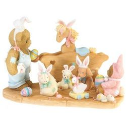 We're All Ears Teddy Bear Easter Figurine