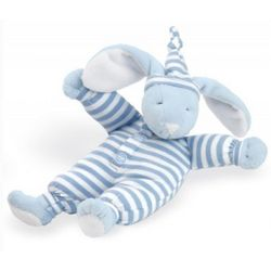 Blue Sleepyhead Bunny Stuffed Animal and Rattle