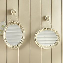 Floral Embossed Rosalynn Mirrors