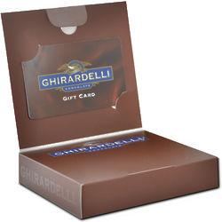 Signature Ghirardelli Gift Card Chocolate Box