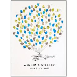 Personalized Prop Plane Thumbprint Guestbook
