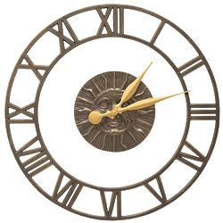 """12"""" Sunface Floating Ring Indoor/Outdoor Wall Clock"""