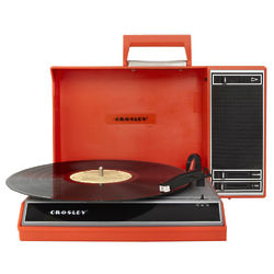 Spinnerette Portable USB Turntable in Red