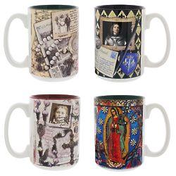 4 Female Saint Story Mugs