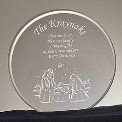 Round Nativity Scene Family Keepsake