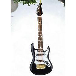 Black Electric Guitar Musical Ornament