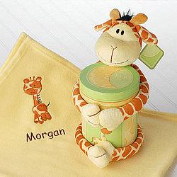 JoJo Giraffe Blanket and Plush Gift Set