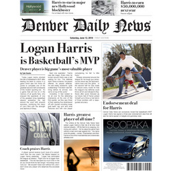 MVP Basketball Fake Newspaper Page
