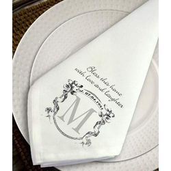 Personalized Ornate Monogram Napkin Set