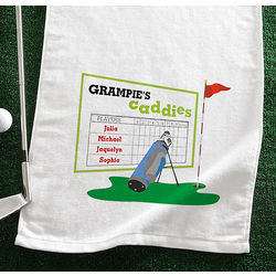 Personalized Favorite Caddies Golf Towel