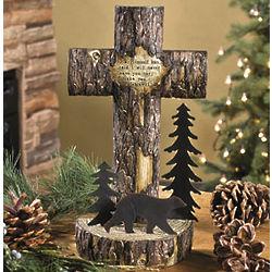 Wooden Finish Tabletop Cross