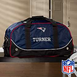 Personalized New England Patriots Rolling Duffel Bag