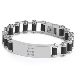 Men's Bicycle Chain ID Bracelet