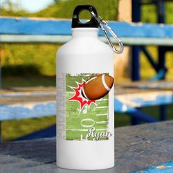 Personalized Kid's Football Water Bottle