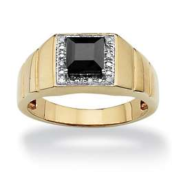 Men's Lab-Created Sapphire and Diamond Accent Ring