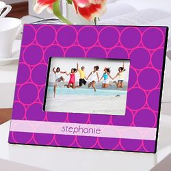 Personalized Purple Fizz Picture Frame