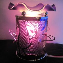 Butterfly Design Scented Oil Warmer Touch Lamp