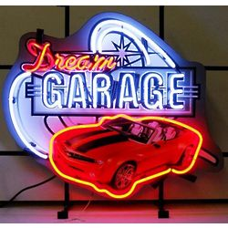 Dream Garage with Camaro Neon Sign