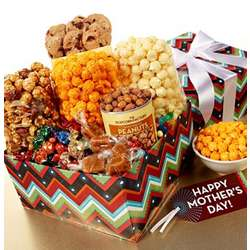 Mother's Day ZigZag Popcorn and Snacks Gift Basket