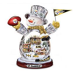 Crystal Snowman NFL Figurine