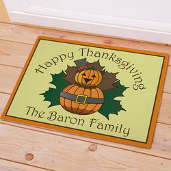 Personalized Thanksgiving Pumpkins Doormat