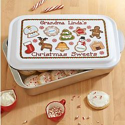 Personalized Christmas Sweets Baking Pan