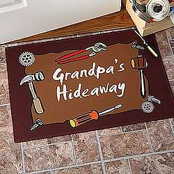 Personalized Garage Welcome Mat - Garage And Tools Design