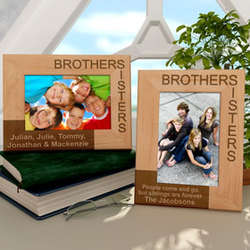 Personalized Brothers And Sisters Wooden Picture Frame Findgiftcom