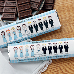 Personalized Wedding Characters Candy Wrappers