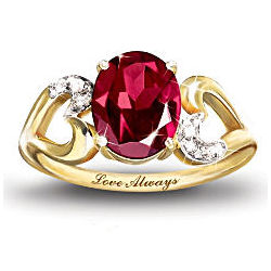 The Promise Garnet and Diamond Promise Ring