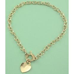 Gold Plated Tiffany Style Heart Charm Necklace