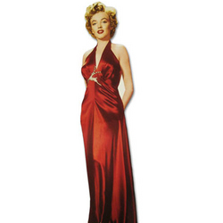 Marilyn Monroe Red Dress Cutout