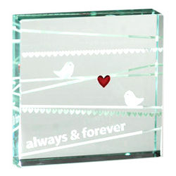 Always and Forever Birds Paperweight