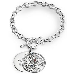 Sterling Family Tree Bracelet