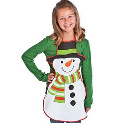 Child's Snowman Apron