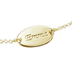 18k Gold-Plated Personalized Baby Name Bracelet