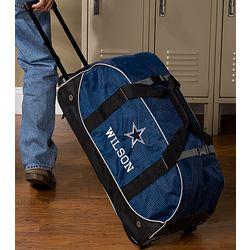 Personalized Dallas Cowboys Rolling Duffel Bag