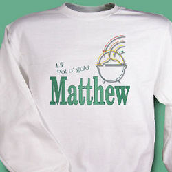 Personalized Lil Pot O' Gold Youth Sweatshirt
