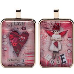 Love Goes Where it is Sent Fairies Word Charm Necklace
