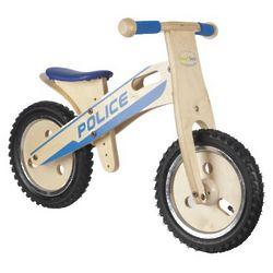 Kid's Wooden Balance Police Bike