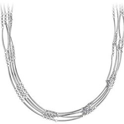 Sterling Silver Stationed Bar Necklace