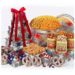 Patriotic Tin and Tower Gift Set