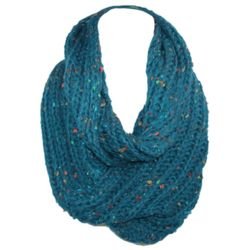 Rib Knit Loop Scarf with Speckles